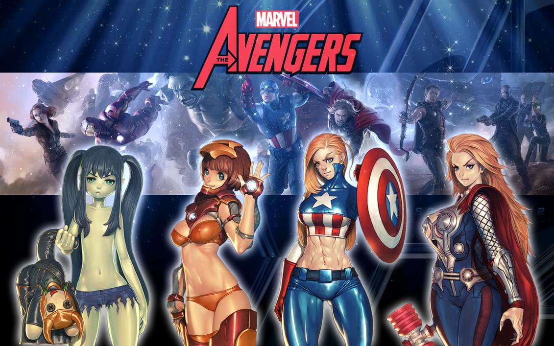 the avengers: sexiness assemble - desktop widgetbutzyung on