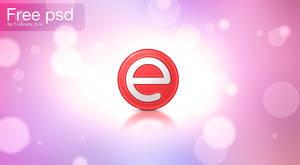 e logo free psd by devzign