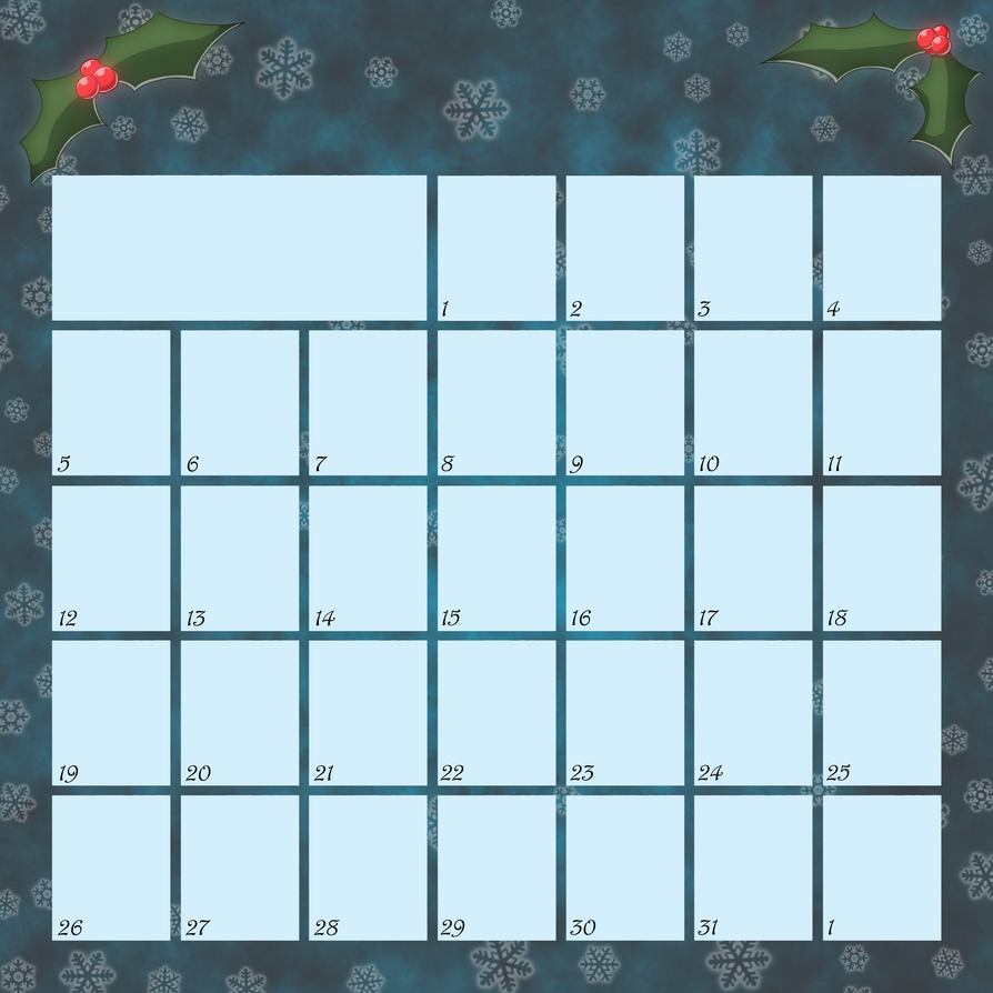 Advent Calendar 2010 - Blank by Lugidog on DeviantArt