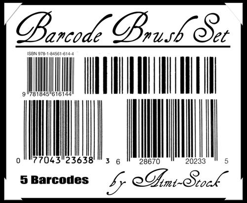 5 Barcode Brush Set by Aimi-Stock