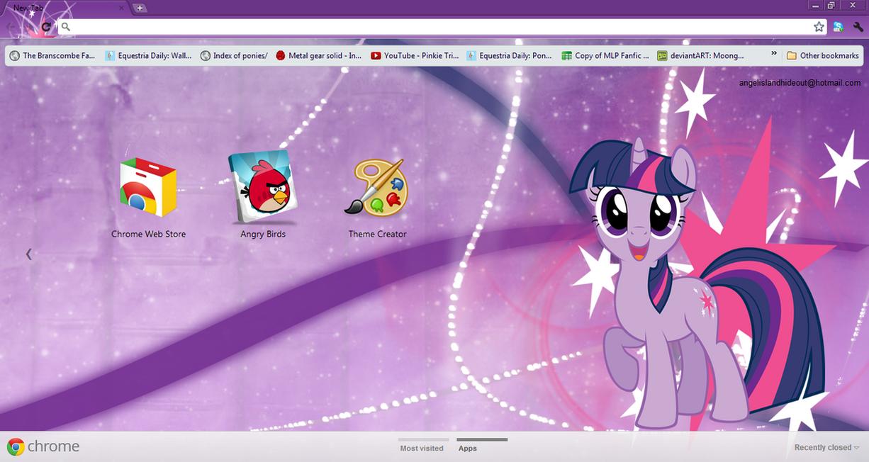 FiM: Twilight Sparkle Google Chrome Theme by M24Designs