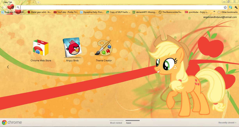 FiM: Applejack Google Chrome Theme by M24Designs
