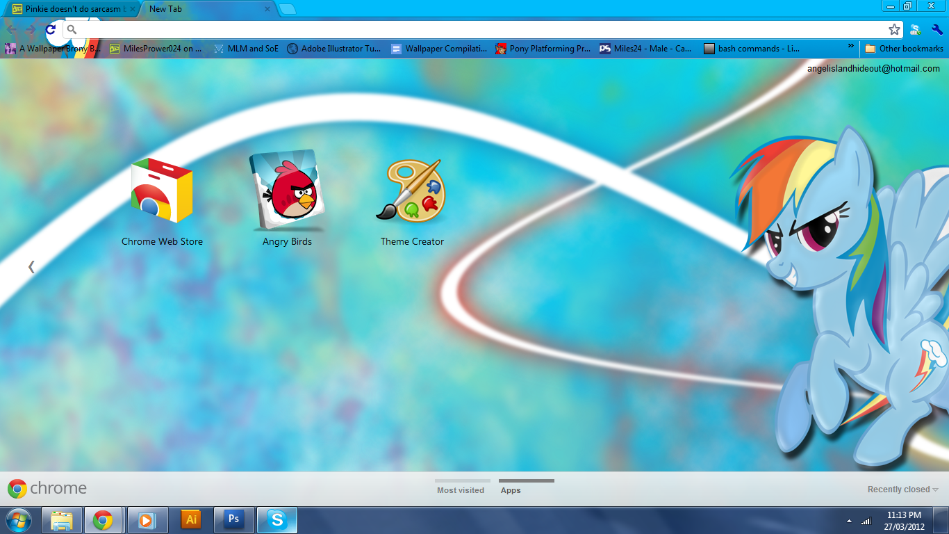 FiM: Rainbow Dash Chrome Theme by M24Designs