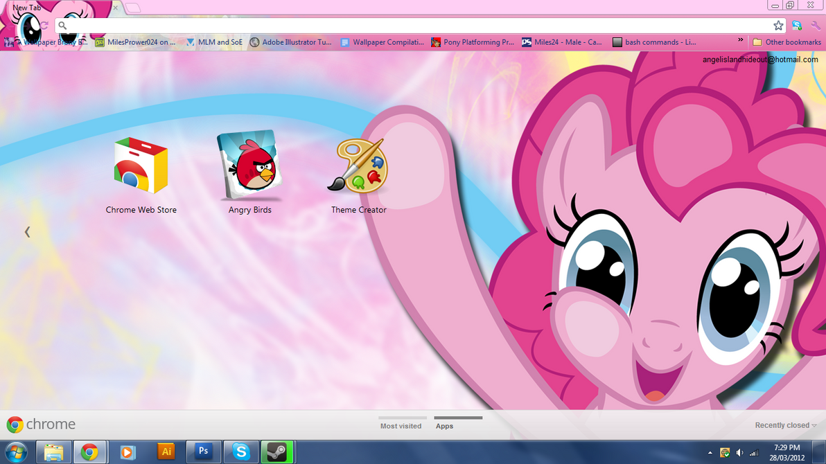 FiM: Pinkie Pie Google Chrome Theme by M24Designs