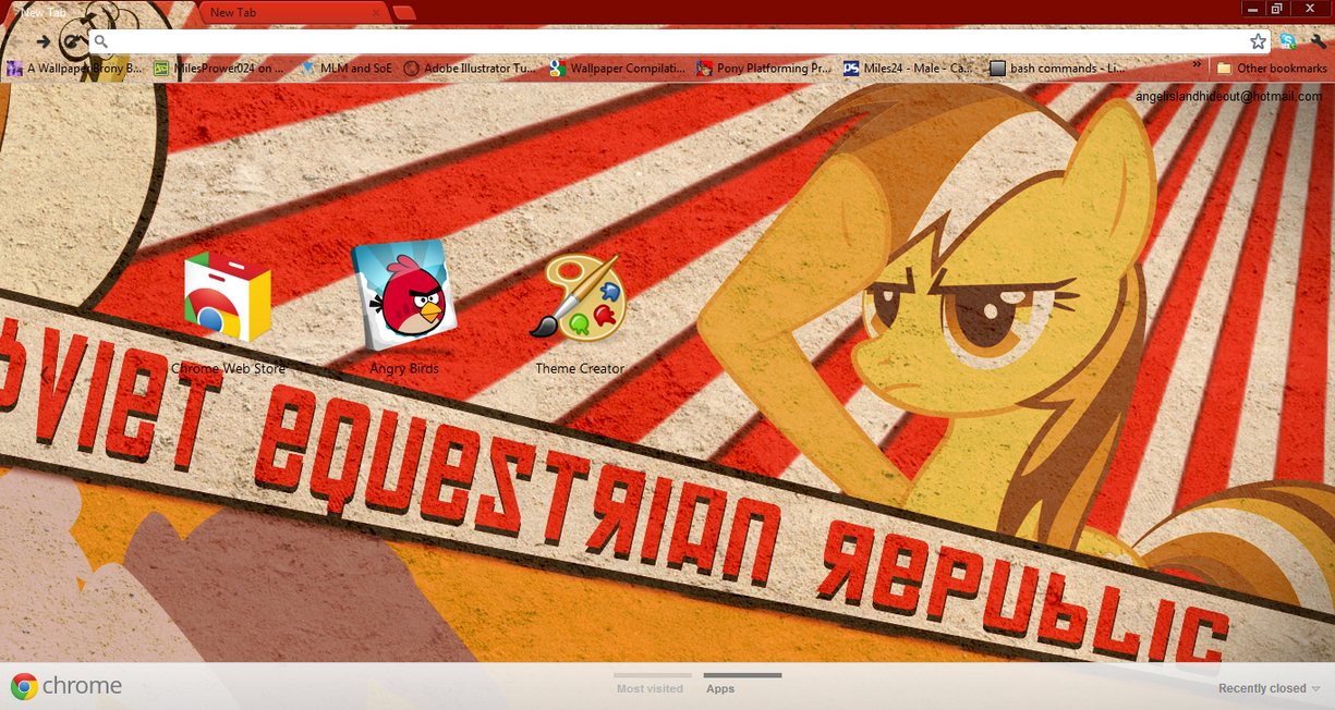 FiM: Soviet Rainbow Dash Chrome Theme by M24Designs