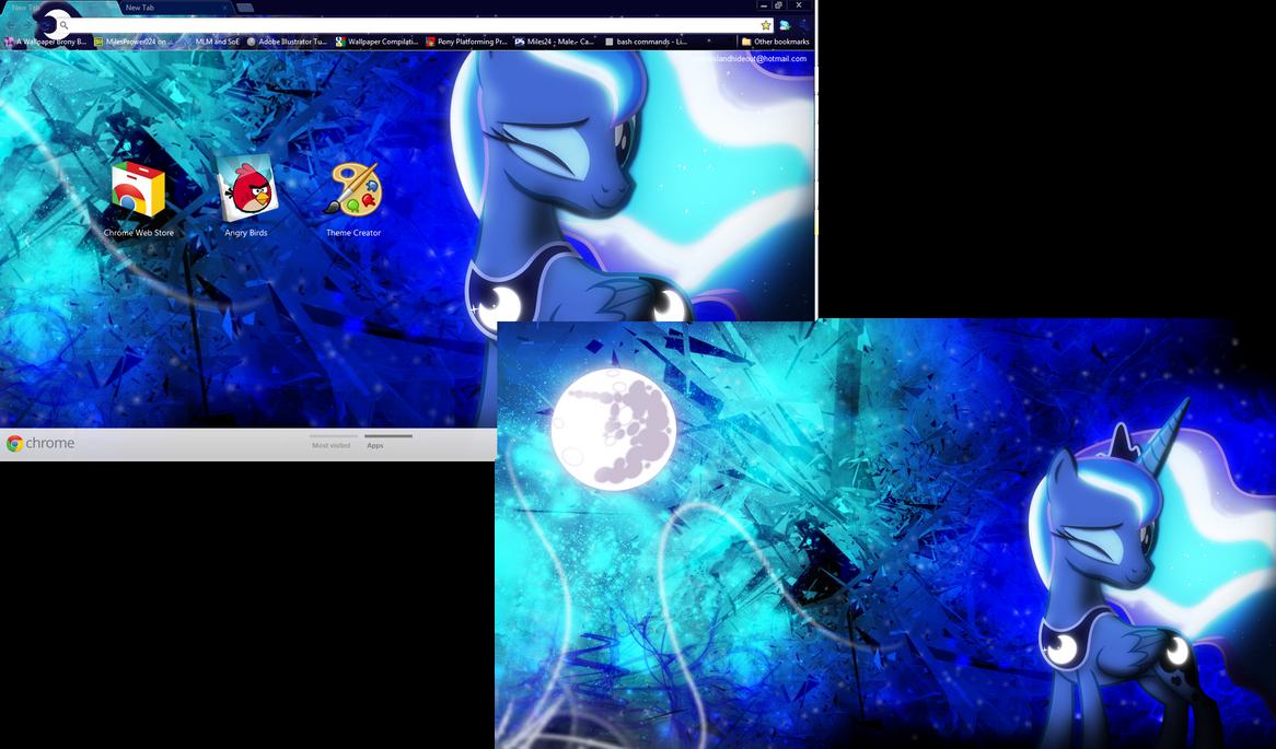 Google chrome themes gallery 2012 - Fim Luna Google Chrome Theme Plus Wallpaper By M24designs