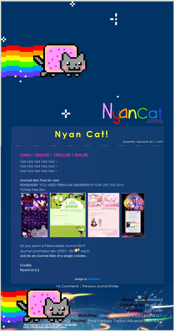 NyanCat_JournalSkin by Hinachuu