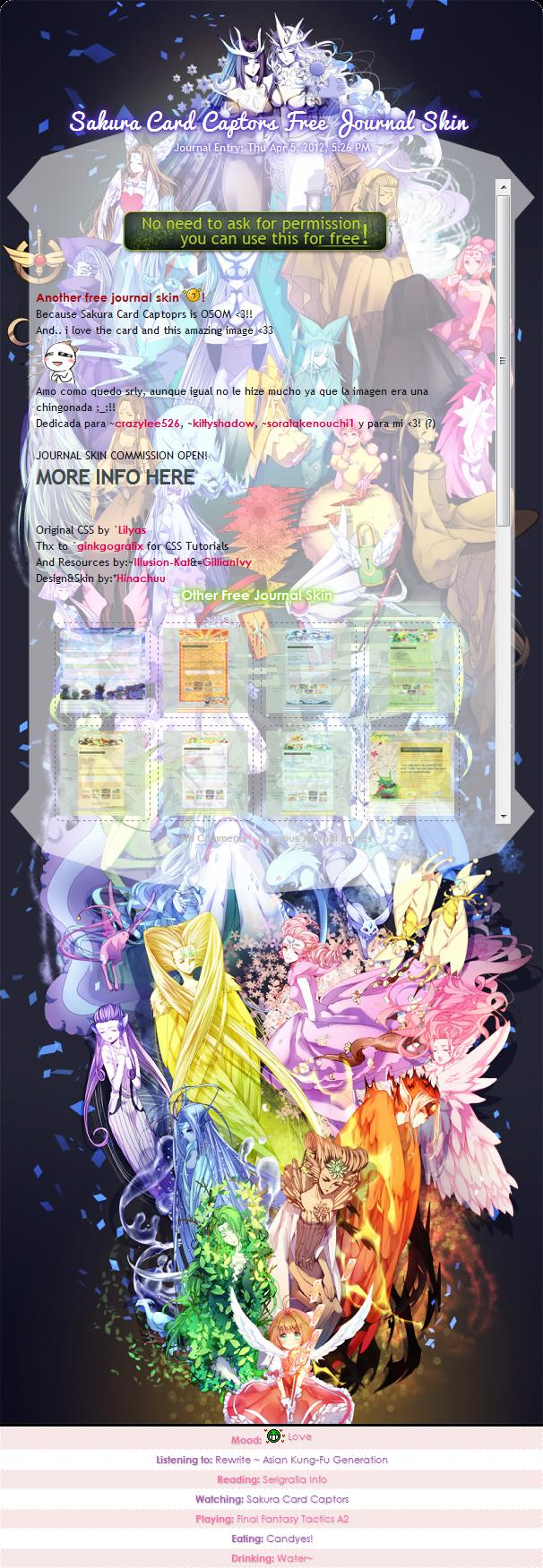 :SCC: FREE Sakura Card Captors Skin by Hinachuu