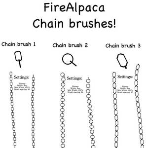 FireAlpaca Chain Brushes - Free!