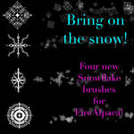 Snowflake brushes FireAlpaca pack 3