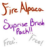Free Random brush set -FireAlpaca-