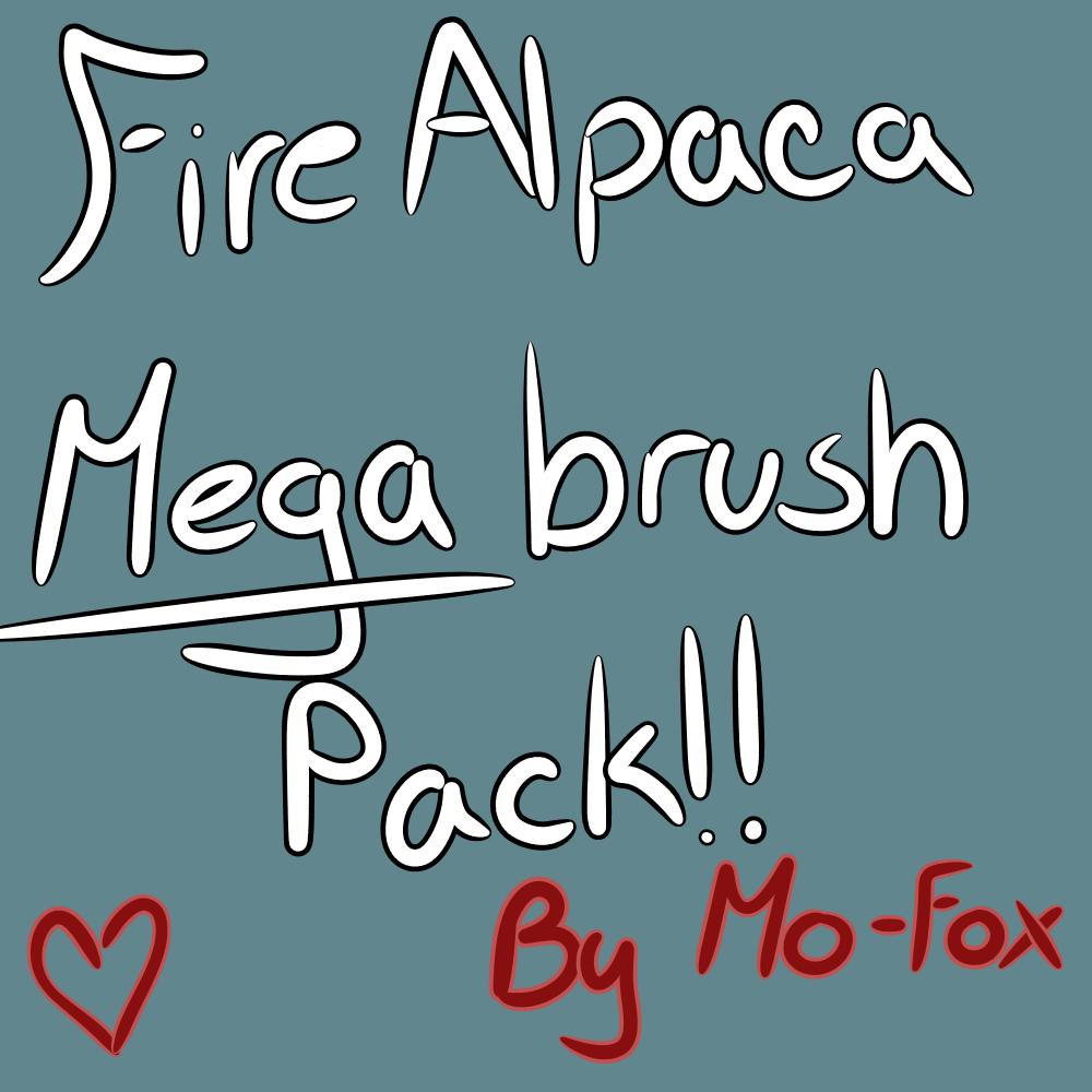 FireAlpaca Brush mega pack! FREE by Mo-fox on DeviantArt