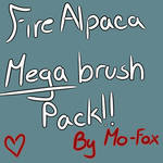 FireAlpaca Brush mega pack! FREE