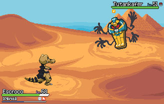 Pokemon fight UI concept + Desert background