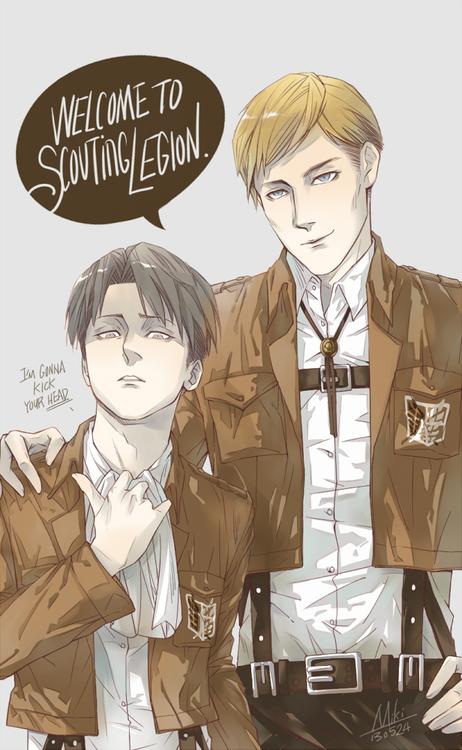Erwin x levi x eren
