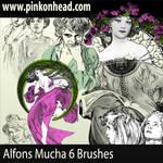 Alfons Mucha Brushes by pinkonhead
