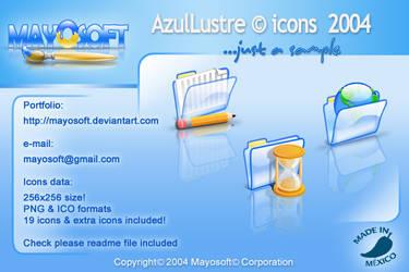 AzulLustre icons 2004