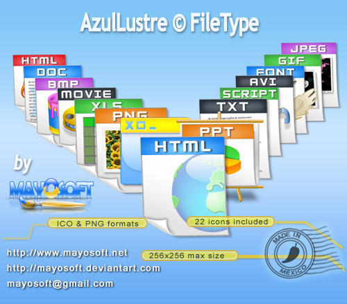 AzulLustre Filetype by Mayosoft