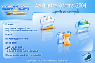 AzulLustre icons for Mac by Mayosoft