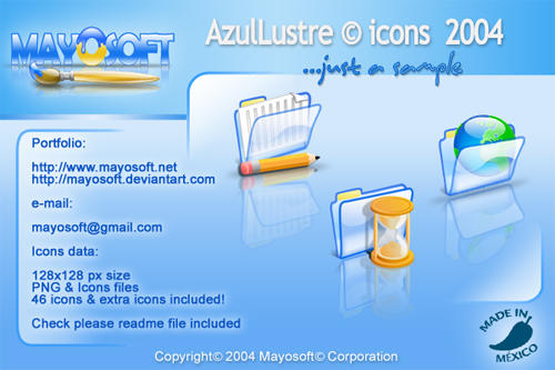 AzulLustre icons for Mac by Mayosoft