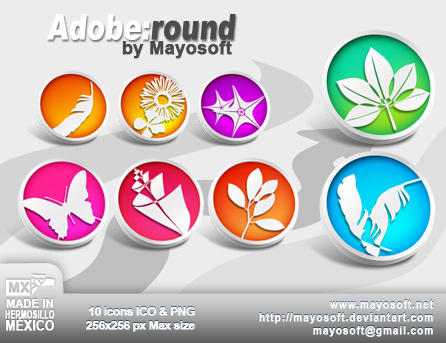 Adobe:Round icons by Mayosoft