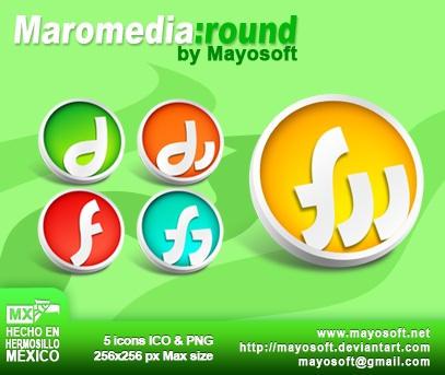 Macromedia Round icons by Mayosoft