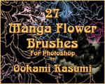 27 Manga Flower Brushes