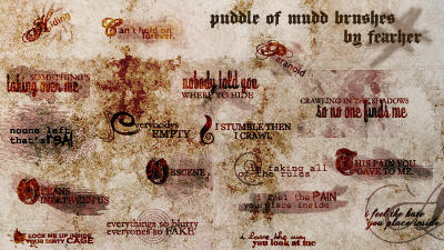 Puddle of Mudd Brushes by fearher