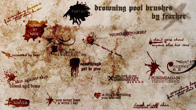 Drowning Pool Brushes by fearher