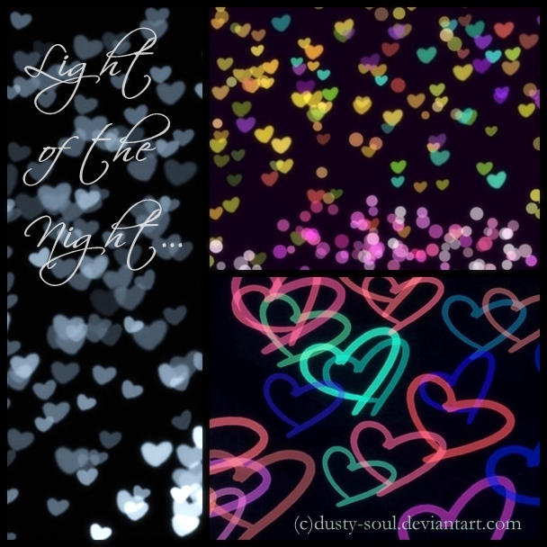 Light bokeh and neon heart by dusty-soul
