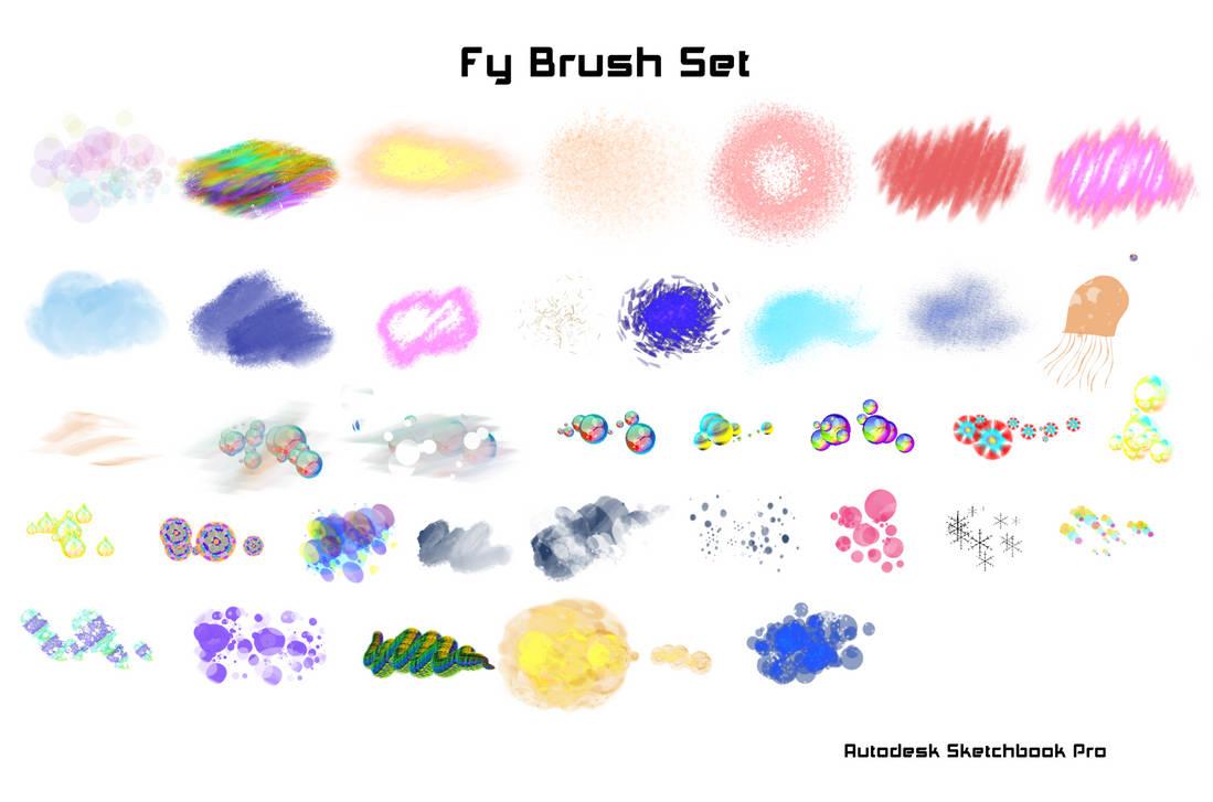 Set de Brushes Fy Autodesk Sketchbook Pro (PC) by KarenStraight on