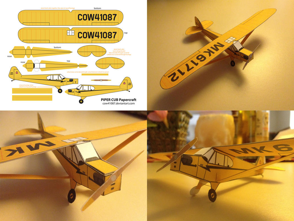Piper Cub Papercraft by cow41087