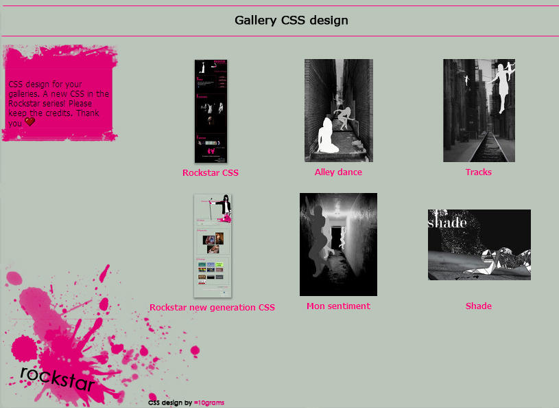 Rockstar Gallery CSS by 10grams