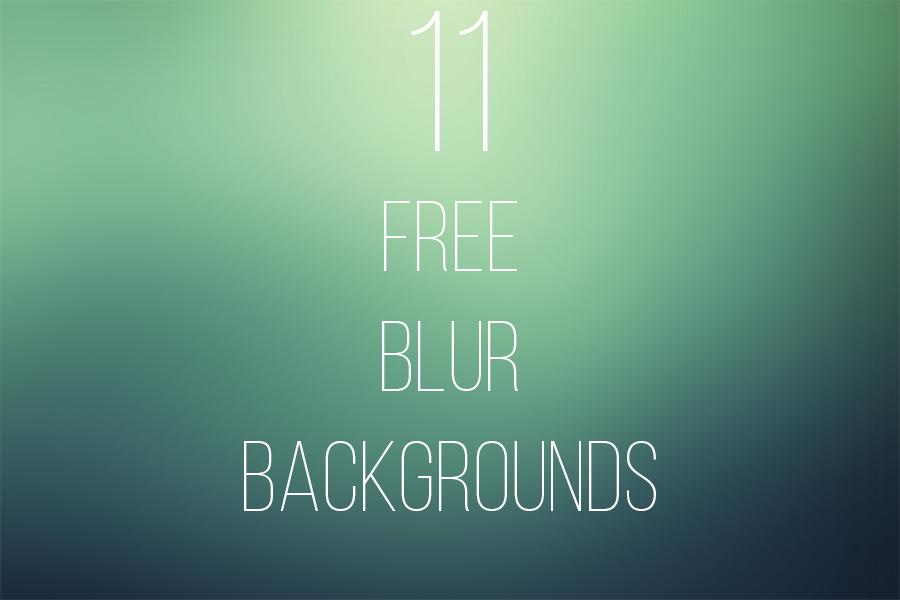 11 FREE Blur Backgrounds by Freezeron