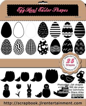 Egg Hunt Easter Shapes by jlr-lica