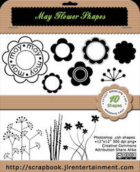 May Flower Custom shapes