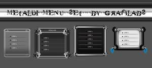 Metalic menu set 2 psd