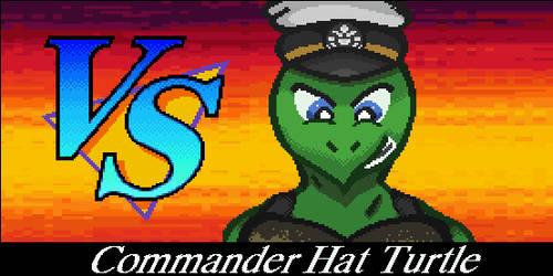 GIF Animated:  VS Commander Hat Turtle by Yukimazan