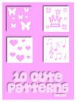 10 cute patterns by Sweet83