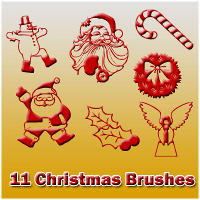 11 Christmas Brushes