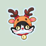 Lulu Xmas Reindeer Cat