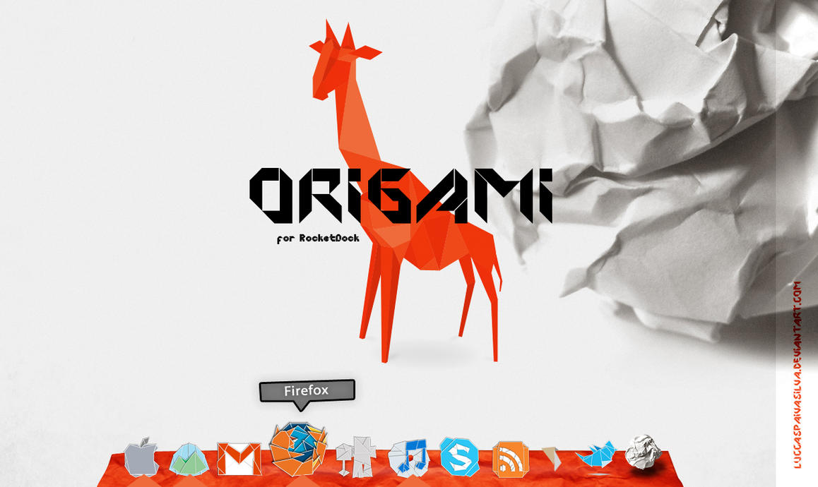 ORIGAMI for RocketDock by luccaspaivasilva