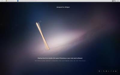 Shaking Pencil WIDGET opens your Work software!