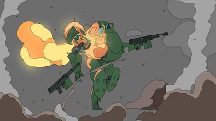 Power armor shootout by bjarnetv