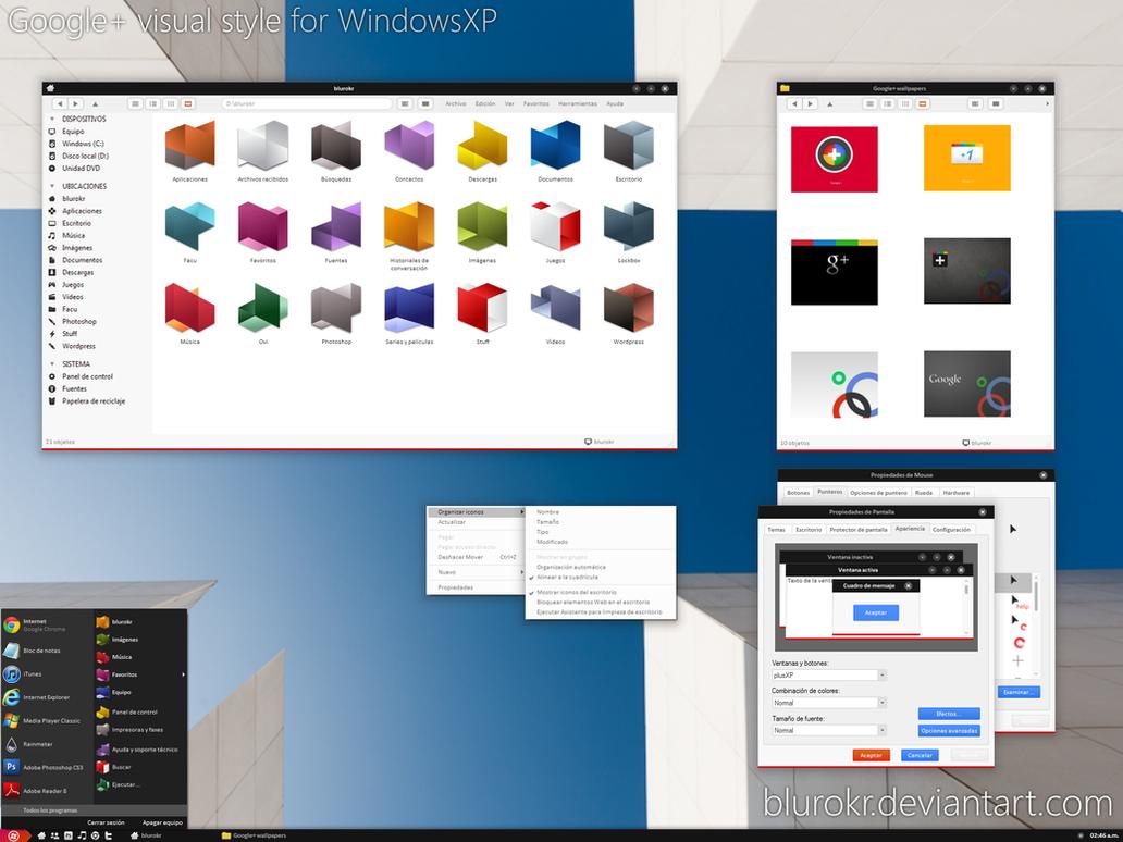 Google+ VS for WindowsXP by blurokr