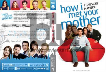 HIMYM Season 1 Custom DVD Cover by blurokr