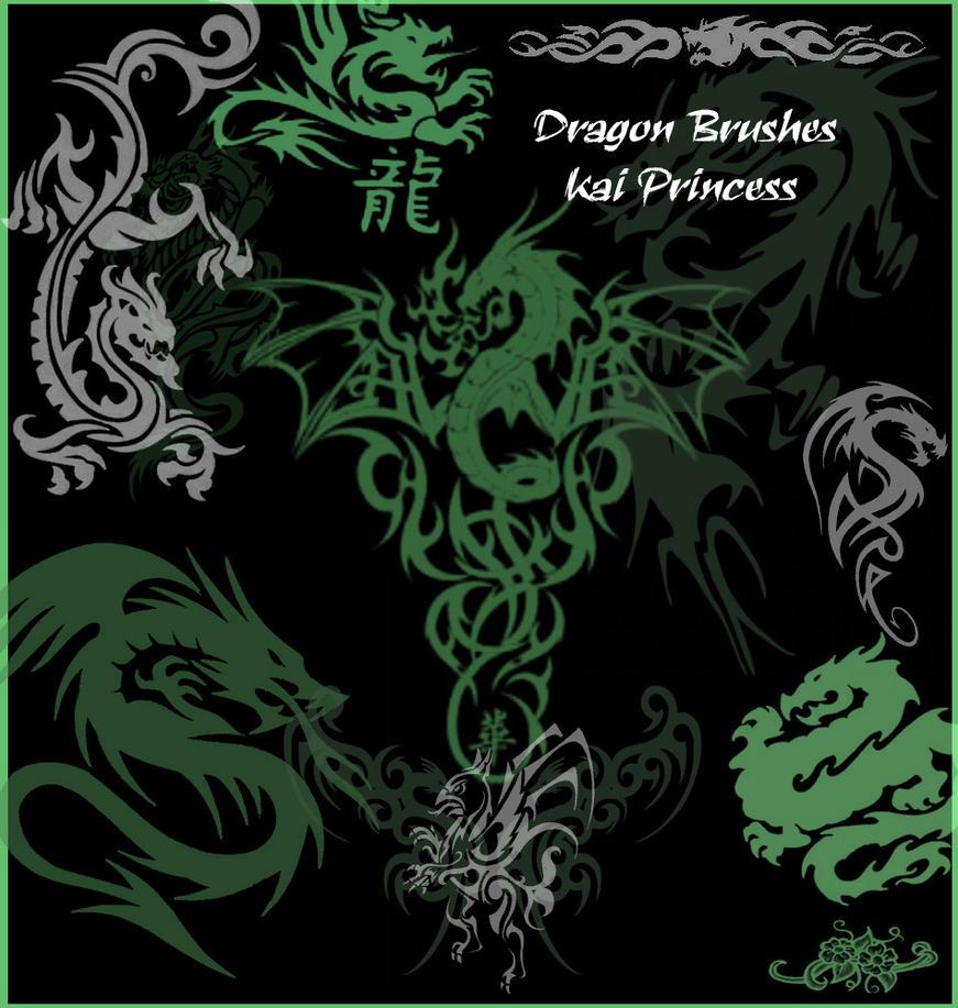 Dragon Brushes by KaiPrincess
