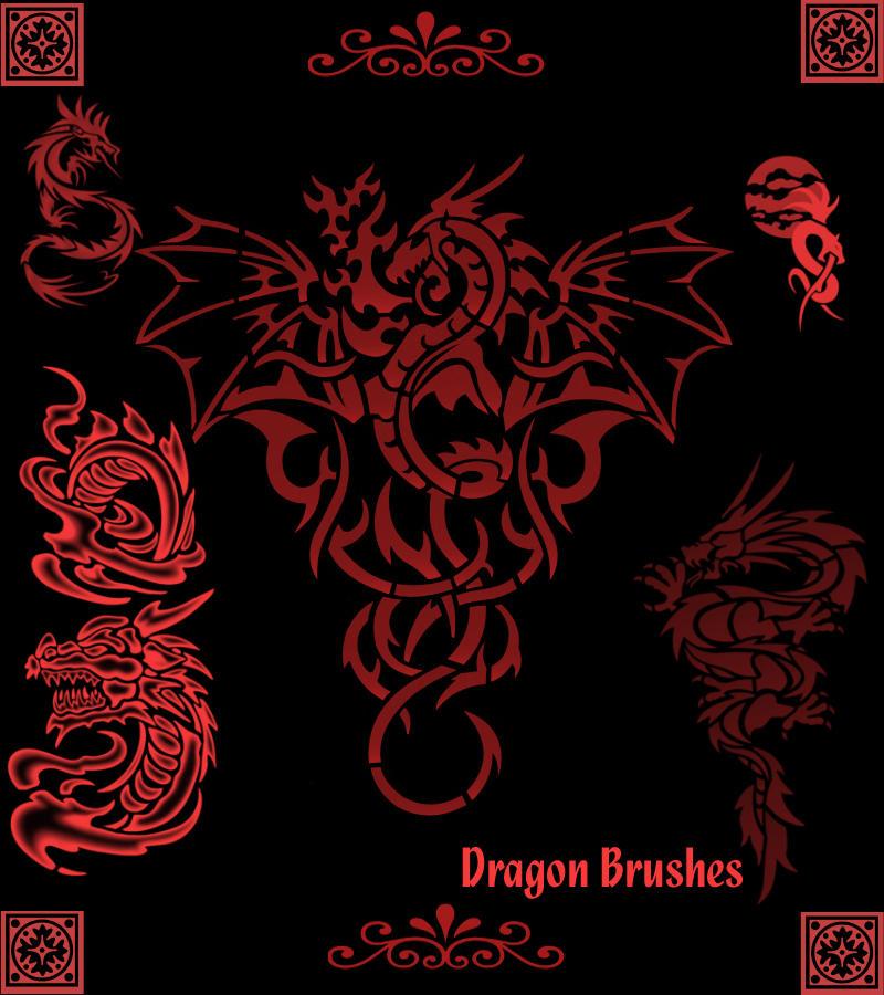 Dragon Brushes Set 1 by KaiPrincess