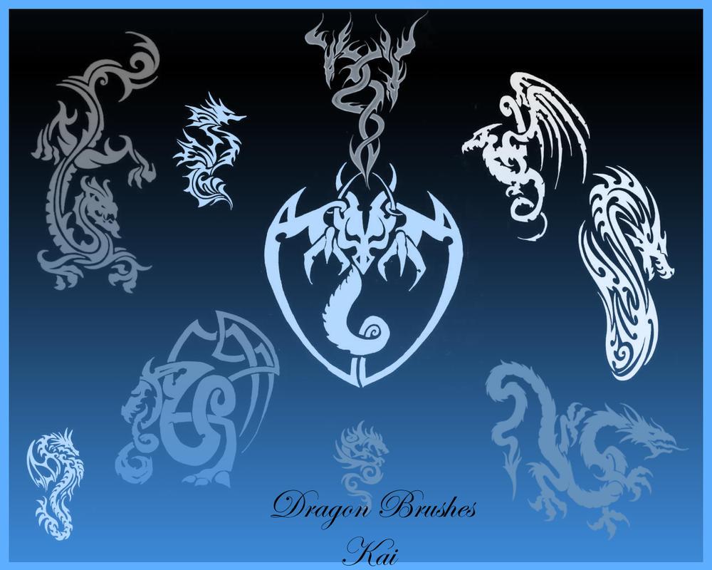 Dragon Brushes New Set by KaiPrincess