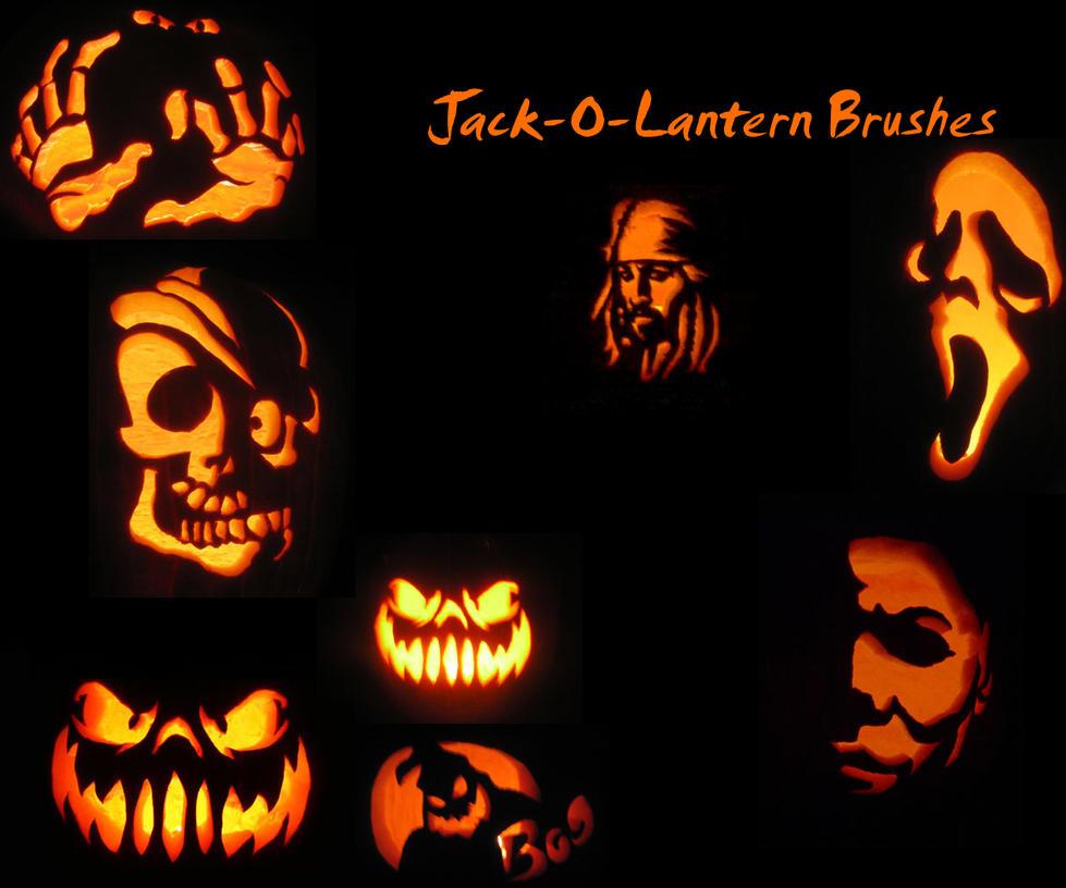 Jack o Lantern Brushes by KaiPrincess